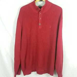 Nautica 100% cotton 4 button knit sweater XXL